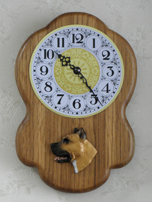 American Staffordshire Terrier - Wall Clock Rustical Head