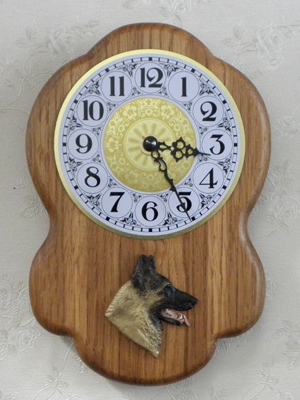 Belgian Malinois - Wall Clock Rustical Head