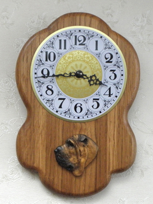 Sharpei - Wall Clock Rustical Head