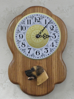 Great Dane - Wall Clock Rustical Head