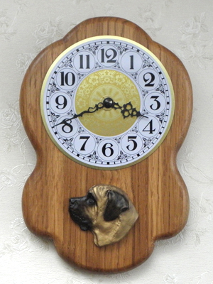 Mastiff - Wall Clock Rustical Head