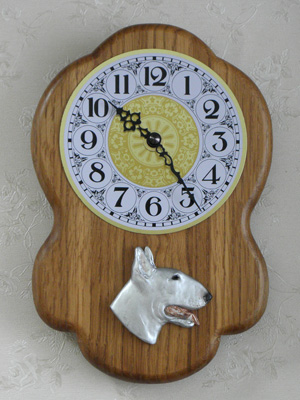 Bullterrier - Wall Clock Rustical Head