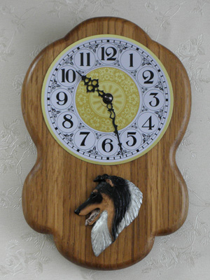 Collie Rough - Wall Clock Rustical Head