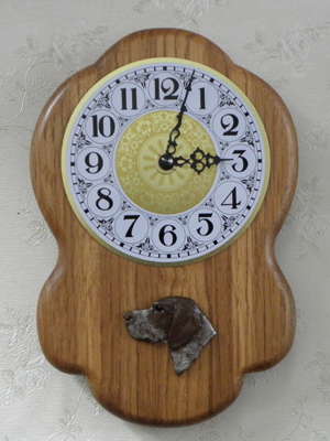German Shorthaired Pointer - Wall Clock Rustical Head
