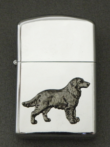 Flat Coated Retriever - Gasoline Ligter Figure