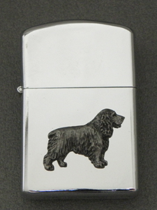 English Cocker Spaniel - Gasoline Ligter Figure