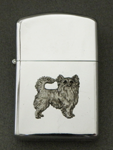 Chihuahua Longhaired - Gasoline Ligter Figure