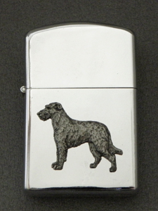Irish Wolfhound - Gasoline Ligter Figure