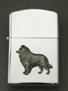 Border Collie - Gasoline Ligter Figure