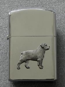Rottweiler Gasoline Ligter Figure Milan Orm Dog Art