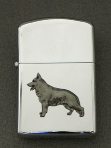German Shepherd - Gasoline Ligter Figure