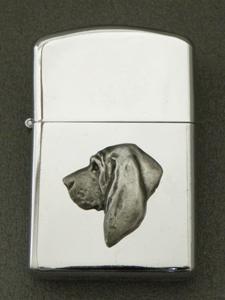 Bloodhound Gasoline Ligter Head Milan Orm Dog Art