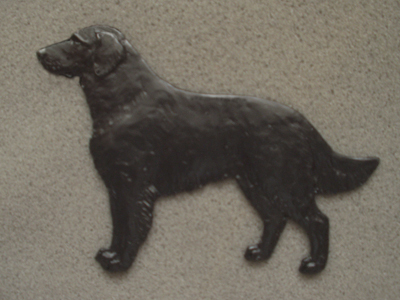 Flat Coated Retriever - Gate Sign