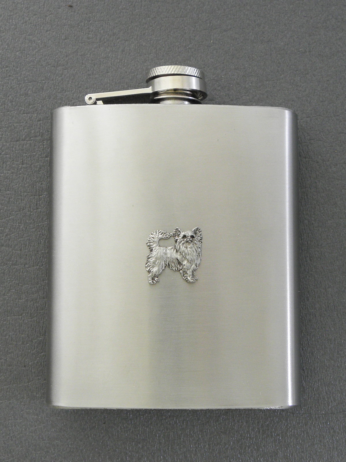 Chihuahua Longhaired - Hip Flask Figure