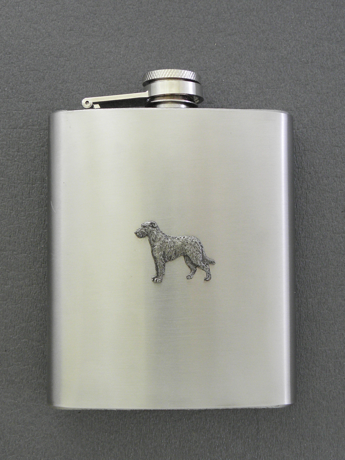 Irish Wolfhound Hip Flask Figure Milan Orm Dog Art