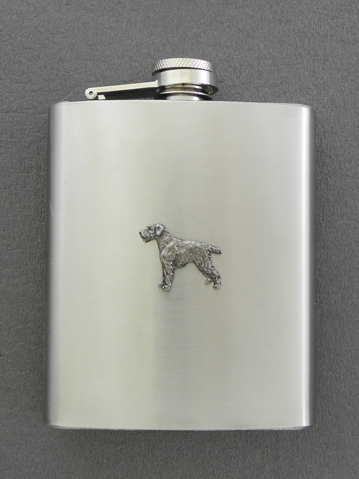 German Wirehaired Pointer - Hip Flask Figure