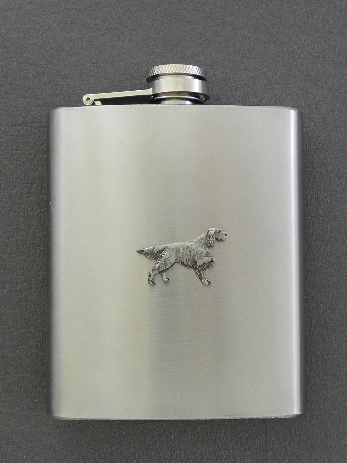 Irish Red & White Setter - Hip Flask Figure
