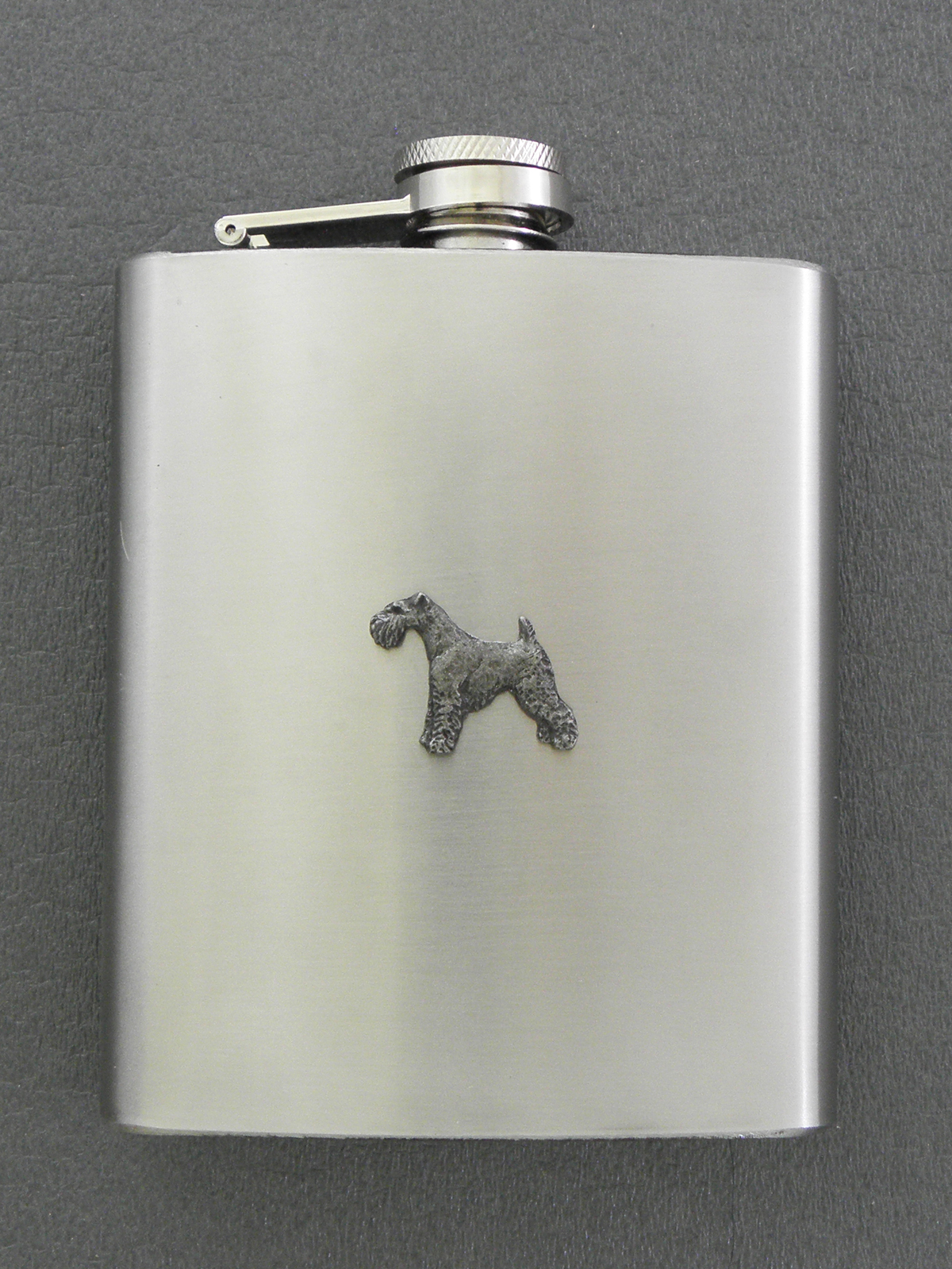 Fox Terrier Wire - Hip Flask Figure