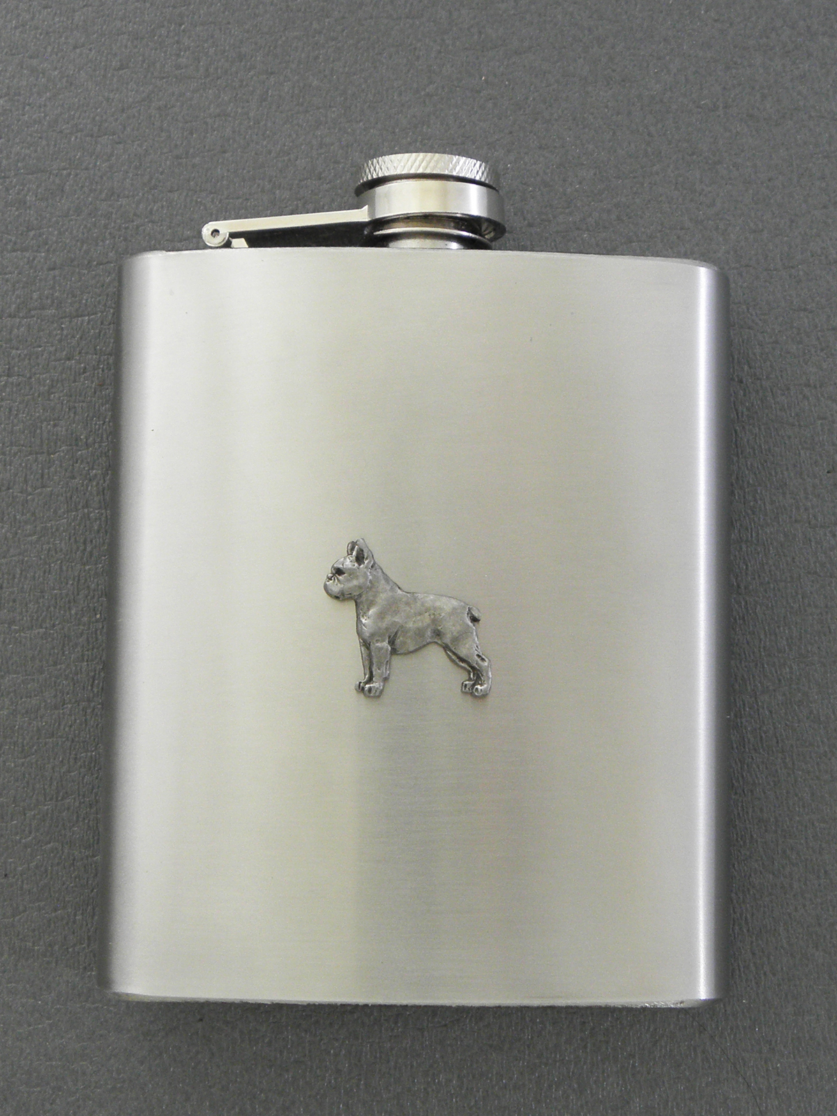 Boston Terrier - Hip Flask Figure