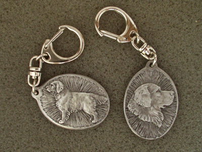 Golden Retriever - Double Motif Key Ring