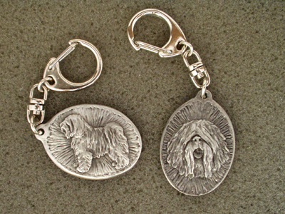 Tibetan Terrier - Double Motif Key Ring