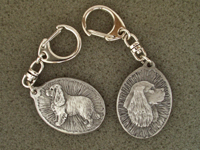 Cavalier King Charles Spaniel - Double Motif Key Ring