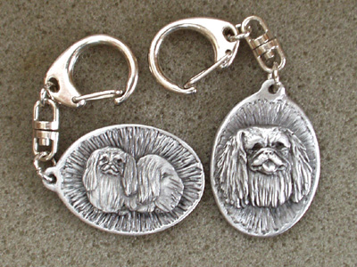Pekingese - Double Motif Key Ring