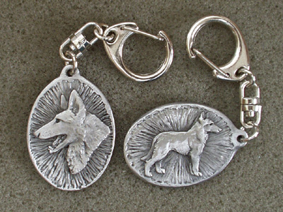 Belgian Malinois - Double Motif Key Ring
