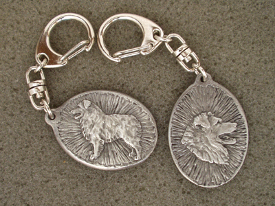 Australian Shepherd - Double Motif Key Ring