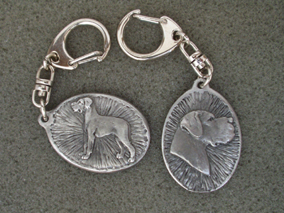 Great Dane - Double Motif Key Ring