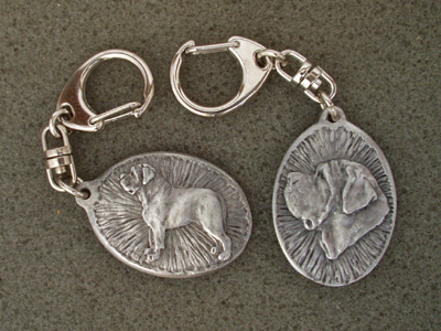 Mastiff - Double Motif Key Ring