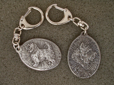 Cairn Terrier - Double Motif Key Ring