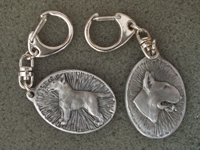Bullterrier - Double Motif Key Ring