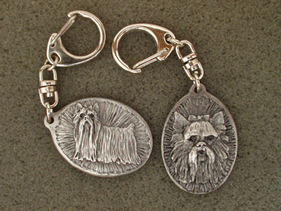 Yorkshire Terrier - Double Motif Key Ring