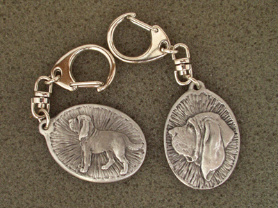 Bloodhound - Double Motif Key Ring
