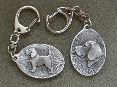 Beagle - Double Motif Key Ring