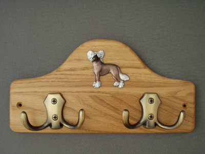 Chinese Crested Dog - Leash Hanger Figure