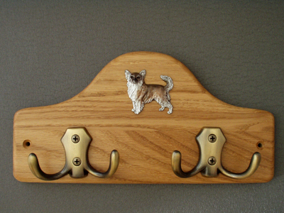 Chihuahua Longhaired - Leash Hanger Figure