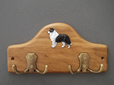 Border Collie - Leash Hanger Figure