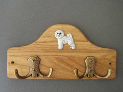Bichon Frisé - Leash Hanger Figure