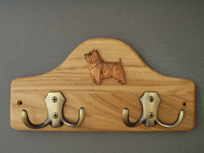 Norwich terrier - Leash Hanger Figure