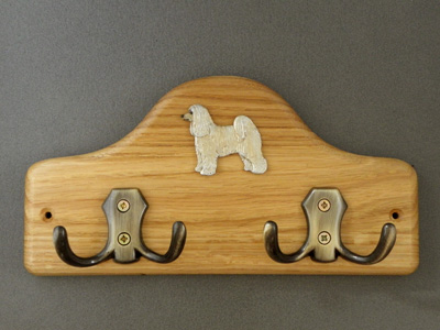 Chinese Crested Dog - Powderpuff  - Leash Hanger Figure