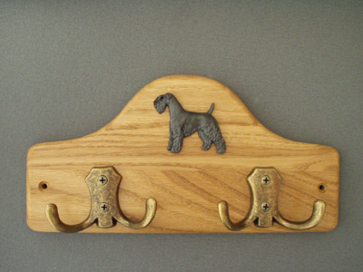 Kerry Blue Terrier - Leash Hanger Figure