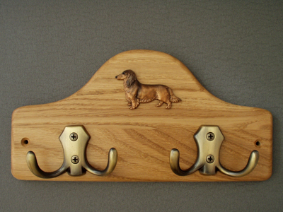 Dachshund longhaired - Leash Hanger Figure