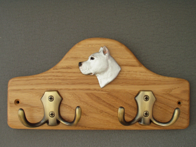 Dogo Argentino - Leash Hanger Head