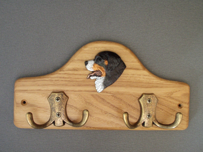 Bernese Mountain Dog - Leash Hanger Head