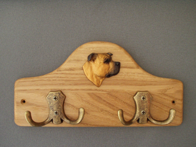 Staffordshire Bullterrier - Leash Hanger Head