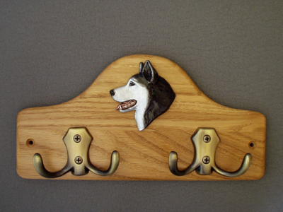 Alaskan Malamute - Leash Hanger Head