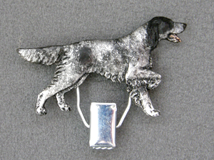 English Setter - Number Card Clip