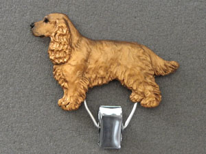 English Cocker Spaniel - Number Card Clip